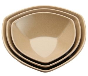 Rice Husk Fibre Tableware Triangle Bowl pictures & photos