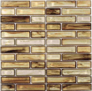 Brown Strip Crystal Glass Mosaic pictures & photos