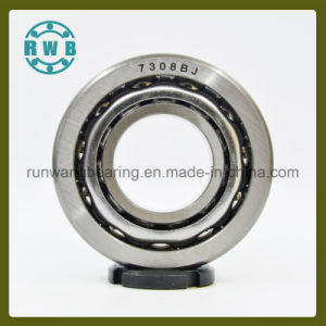Single Row Angular Contact with The Iron Cage Bearings, Roller Bearings, Factory Production (7308BJ)