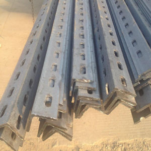 Hot DIP Galvanized Angle Steel with Drilled Holes Ends pictures & photos