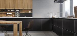 Hlp Melamine Finish Kitchen Cabinets pictures & photos