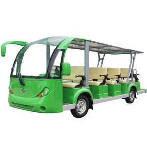 Electric Sightseeing Bus Shuttle Bus with 14 Seats pictures & photos