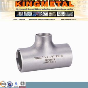 "A403 Wp316 Wp304/304L, 18""Hot Forming Butt-Welded Stainless Reducing Tee pictures & photos"