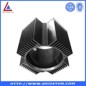 6063 Black Anodized Aluminium Heat Sink with Holes pictures & photos