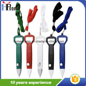 Promotion Plastic Ball Pen with Lanyard pictures & photos
