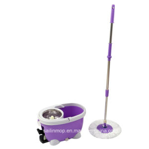 Hand Press Spin Mop with Steel Basket Bucket with Pedal (SL-S007)