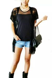 Women Fashion Clothes Sexy Nylon Lace Loose Ladies′ Shirt pictures & photos