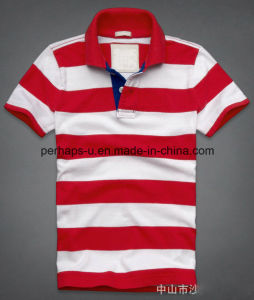 Sunshine Mens Colorful Stripe Polo Shirt pictures & photos