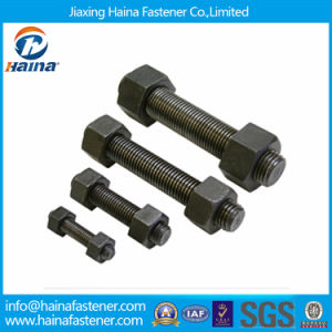 High Strength Black ASTM A193 B7 Stud Bolt with 2h Nut pictures & photos