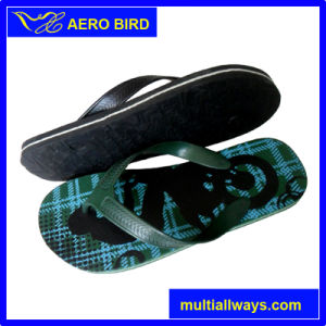 Custom Printed Durable PE Male Slipper Sandal Shoes pictures & photos