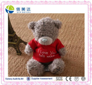 Fluffy Plush Teddybear with Nice T-Shirt pictures & photos