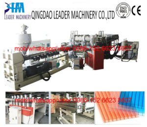 UV Resistance Polycarbonate PC Hollow Grid Sheets Extrusion Machine pictures & photos