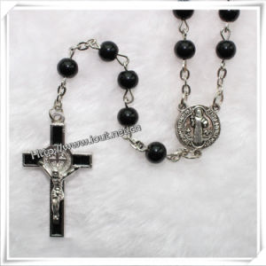 Holy Pray Black Glass Bead Chaplet Rosary (IO-cr057) pictures & photos