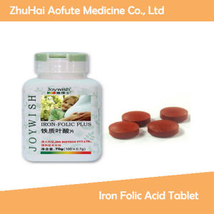 Good Quality Medicial Iron Folic Acid Tablet pictures & photos