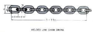 Welded Link Chain DIN766 pictures & photos
