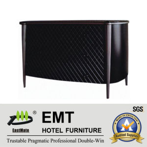 Elegant Black Mesh Facing Design Wooden Decorative Cabinet (EMT-DC06) pictures & photos