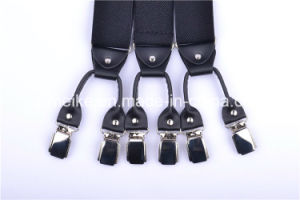 Men′s Fashion Leather Clip Suspenders (BD1007-3) pictures & photos