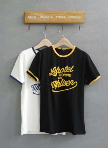 Plain Style T-Shirt Stock Lot Basic T-Shirt for Men pictures & photos
