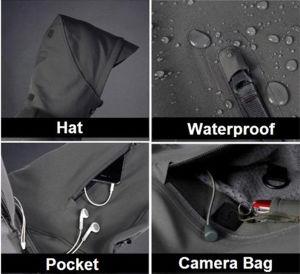 Men Outdoor Hunting Jacket Hoodie Camping Waterproof Coats pictures & photos