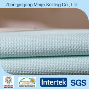 Blue Weft Knitted Jacquard Polyester Sport Garment Fabric (MJ5001)