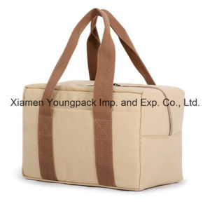 Promotional Custom Natural Cotton Canvas Tote Cooler Bag pictures & photos