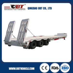Transporting Excavator Semi Trailer Truck Trailer Low Bed Trailer pictures & photos