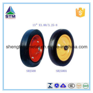 "Qingdao Manufacturer 13""X3.00-8 Solid Rubber Wheel"