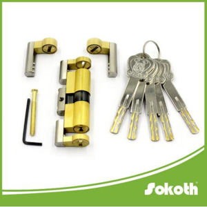 New Design Suitable for 65mm-120mm Door Adjustable Length Brass Cylinder Lock pictures & photos
