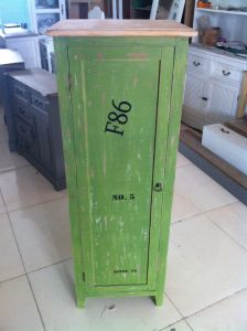 Antique Green Cabinet with 1 Door (FCJ04142)
