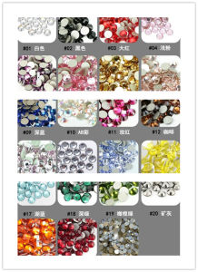 Flat Back Glass Rhinestone Non Hot Fix pictures & photos