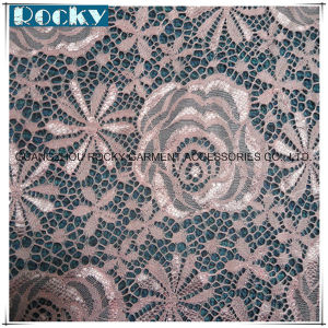 Pink Flower Garment Accessories Elastic Lace Fabric Nylon Lace