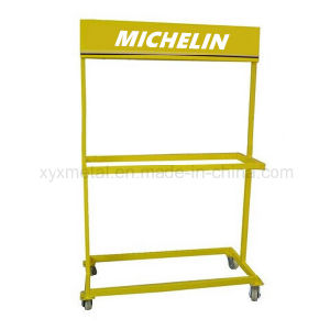 Roll Tyre Metal Advertising Stand Tire Show Rack pictures & photos