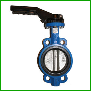 Rubber Seat Wafer Type Butterfly Valve with Lever pictures & photos