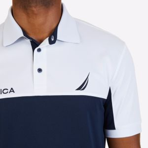 Classic Color Blocked Performance Fit Polo Shirt pictures & photos
