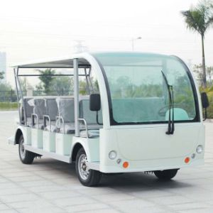 CE Approve Lead Battery Power 23 Seats Electric Shuttle Bus (DN-23) pictures & photos