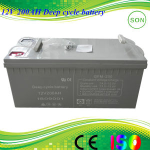 Solar Srorage AGM 12V 200ah Deep Cycle Battery pictures & photos