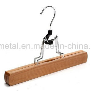 Natural Wood Clamp Hanger for Pants Trousers Skirt pictures & photos