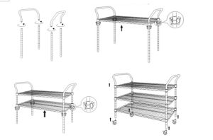 Multi-Functional Metal Hand Trolley with Anti-Static Wheels pictures & photos