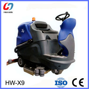Ride on Low Noise Floor Scrubber for Hospital Airport pictures & photos