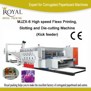 Mjzx-6 High Speed Flexo Printing, Slotting and Die-Cutting Machine (Kick feeder) pictures & photos