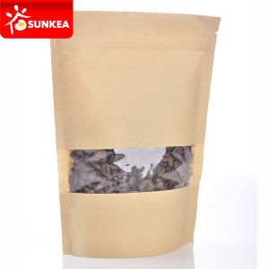 Brown Kraft Paper Stand up Tea Pouch with Window pictures & photos