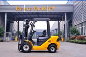 2.5t Dual Fuel Gasoline/LPG Forklift with High Lifting Mast pictures & photos