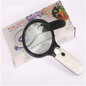 Portable Mini Handheld 3 X-45 X Magnifier Lamp with LED Light (EGS-6905B) pictures & photos