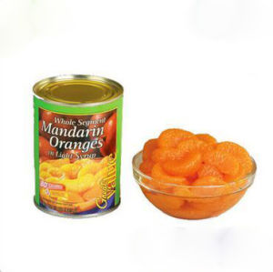 Whole Segment Canned Mandarin Orange in Light Syrup pictures & photos