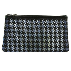 Fashion Houndstooth Pattern Hot Selling Cosmetic Bag with Big Space pictures & photos