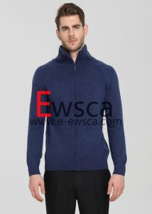 New Fashion Full-Zip Knitted Sweater pictures & photos