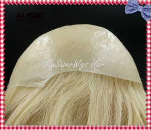 Remy Human Hair Ultra Thin Poly Skin Toupees pictures & photos