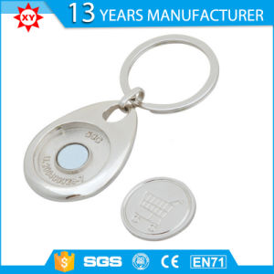Metal Foldable Shopping Cart Trolley Coin Keychain Keyring pictures & photos