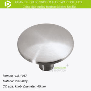 High Quality Round Satin Nickel Kitchen Cabinet Cupboard Door Knobs pictures & photos