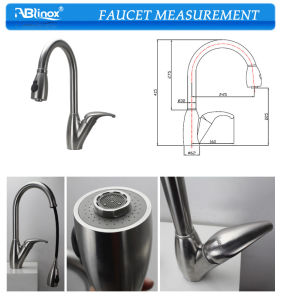 Flexible Steel Pop up Kitchen Faucet (AB119) pictures & photos